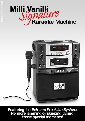 The Milli Vanilli signature Karaoke Machine!