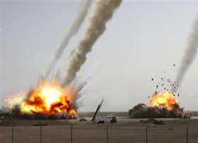 Iranian missile test gone wrong