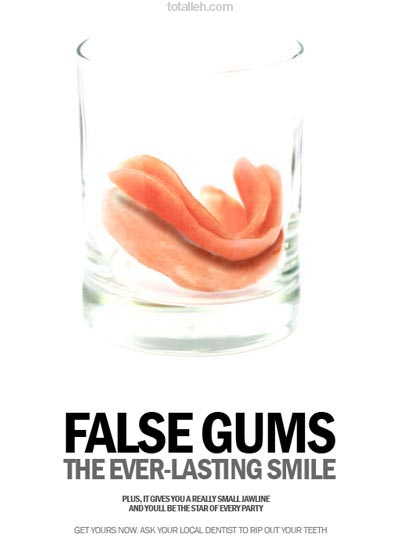 Useless products: False gums
